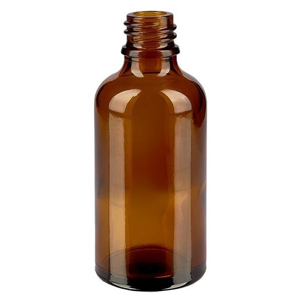 Bruine glazen fles 50ml
