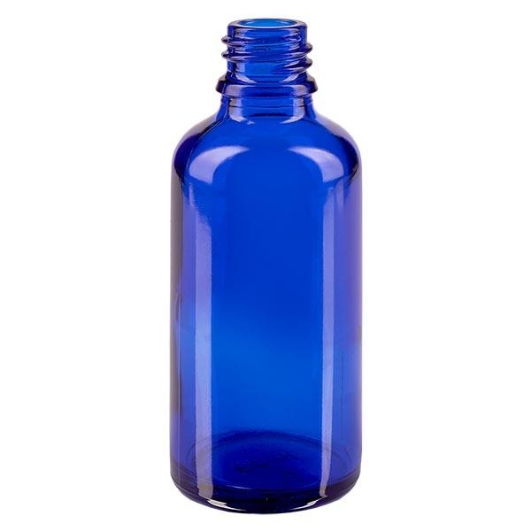 Blauwe glazen fles 50ml
