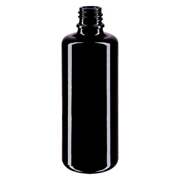 Violetglas fles 50ml DIN 18 (Mironglas)
