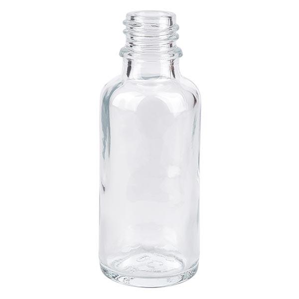 Helder glazen fles 30ml