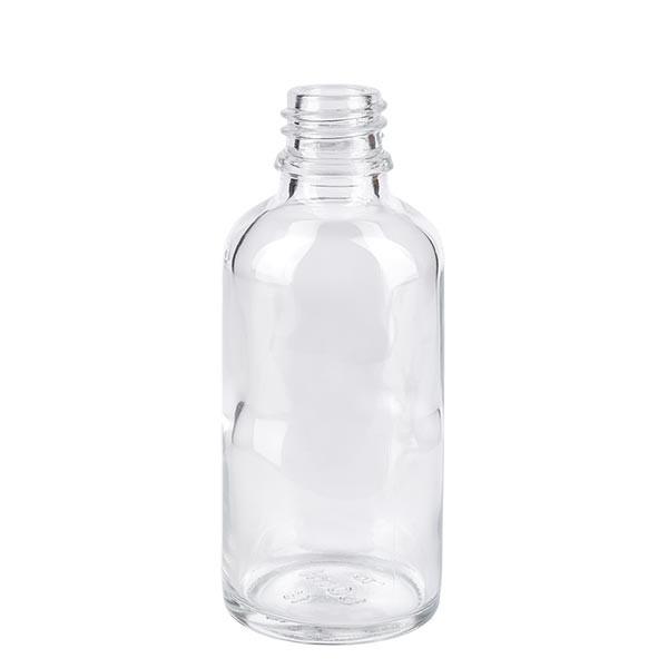 Helder glazen fles 50ml
