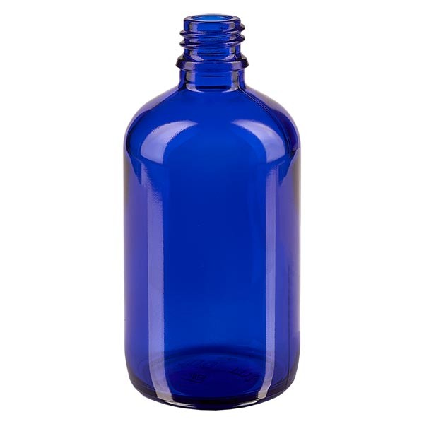 Blauwe glazen fles 100ml